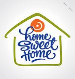 &#39;home sweet home&#39; hand lettering (vector)