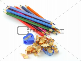 Tool for sharpening a pencils with shavings.
