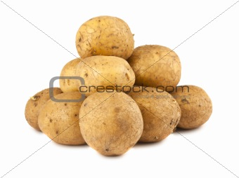 Bunch of ripe potatoes