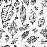 Seamless background with leaves