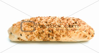 Fresh bread with seeds and cheese