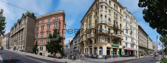 vienna row house panorama