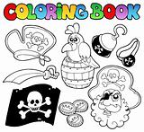 Coloring book with pirate topic 4