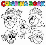 Coloring book with pirate topic 5