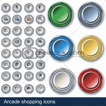 Arcade shopping buttons