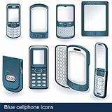 Blue cellphone icons