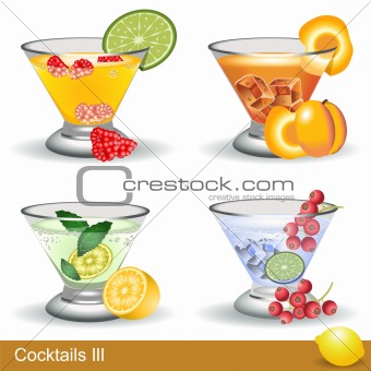 Four different cocktails
