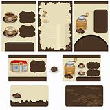 Coffee stationary template