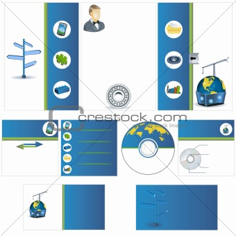 Corporate look stationary template