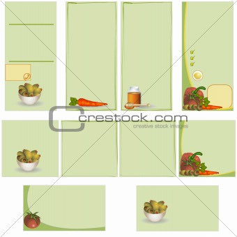 Food stationary template