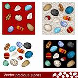 Vector precious stones