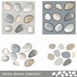 Vector stones collection