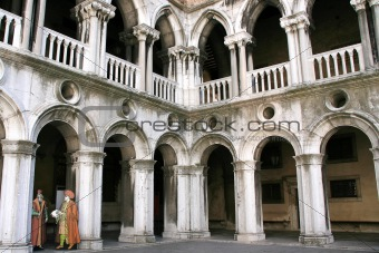 Doges palace inside, Venice