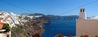 The island of Santorini. Panorama.