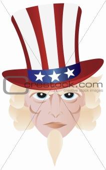 Fourth of July Uncle Sam Illustration