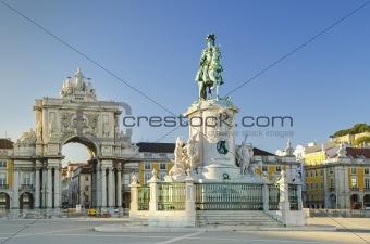 praca comercio square lisbon portugal