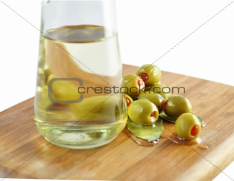 olives and cooking oil