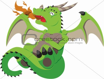 Cute Vector Baby Dragon