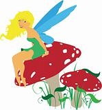 Vector Forest Fairy Scene