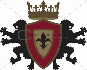 Vector Twin Lion Heraldry