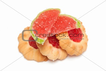 biscuits with jam and marmalade slices 