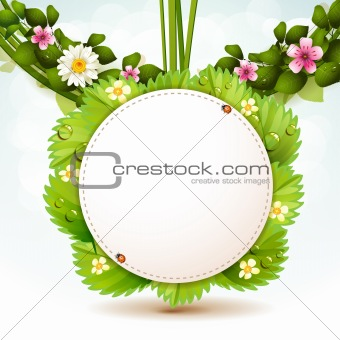 Mirror with leafs