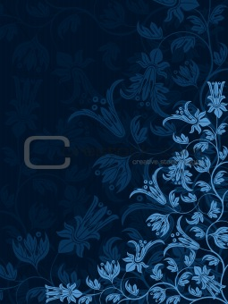 Abstract floral background. Retro pattern. Vector illustration.