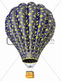 Multi-colored balloon