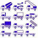 Set of vector icons - transportation symbols.
