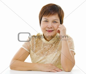Asian mature woman