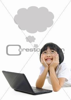 Pan Asian school girl