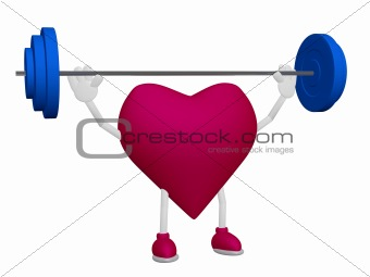 Heart health training weight sport concept
