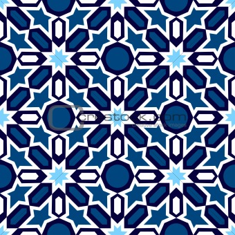 Blue Islamic ornaments