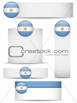 Argentina Country Set of Banners