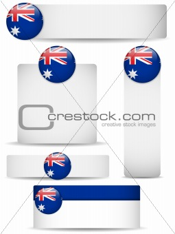 Australia Country Set of Banners