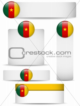 Cameroon Country Set of Banners