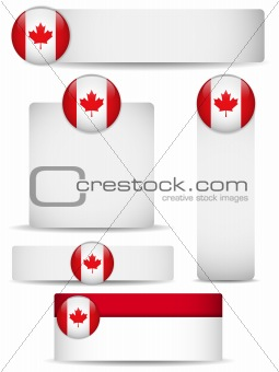 Canada Country Set of Banners