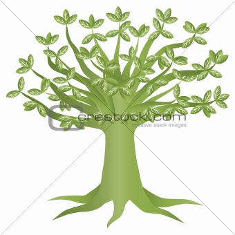 Green Eco Tree Illustration