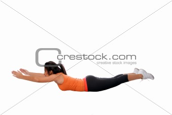 Yoga back stretching exercise fitness