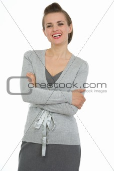 Portrait of smiling business woman with crossed arms