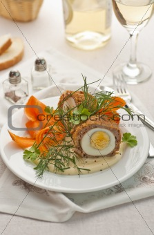Meat and egg ball