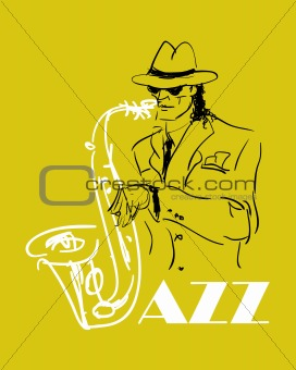 the saxophone player