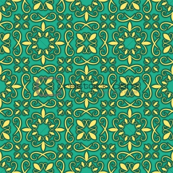 vector seamless bright pattern, oriental style