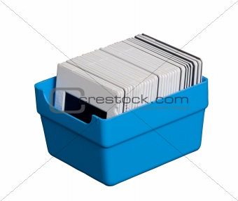 Blue box with transparency film
