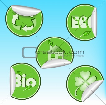 Set of eco stickers