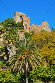 Alcazaba of Malaga, in Malaga, Spain