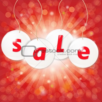 Sale Poster With Sunburst