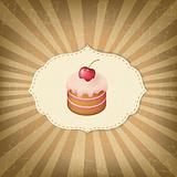 Vintage Label With Cupcake