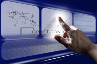 Finger Touching Digital Touch Screen