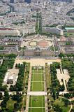Le Champ de Mars gardens in Paris, France